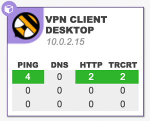 NetBeez agent configured as a VPN Client