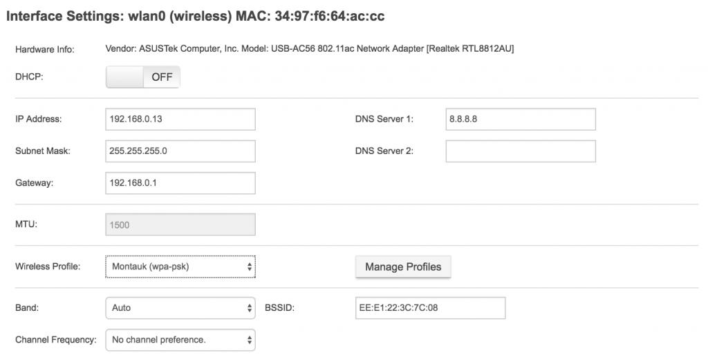 NetBeez wireless interface management.