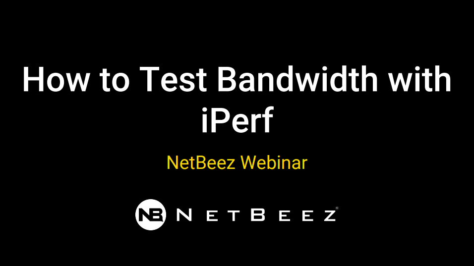 How to test bandwidth with iperf