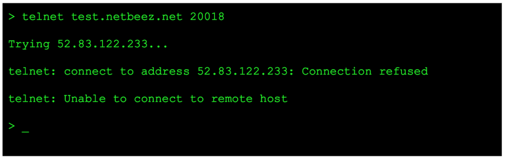 How to use telnet to test connectivity to TCP ports | NetBeez
