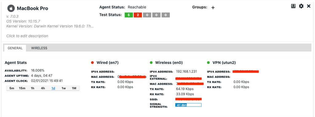 agent interface status